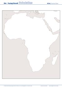 Stumme Karte Afrika.öbv F B Schulatlas Online