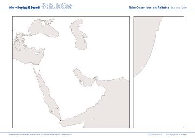 Stumme Karte Naher Osten.Obv F B Schulatlas Online