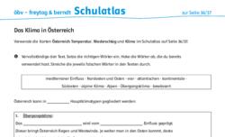 Österreich – Arbeitsblätter – schulatlas.com