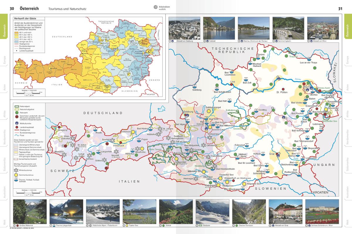 Österreich – Interaktiver Atlas – schulatlas.com